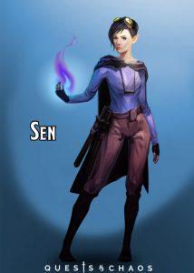 Sen, 17 year old half elven bladesigner.