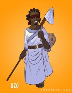 Uzo, Warlock of the Gods